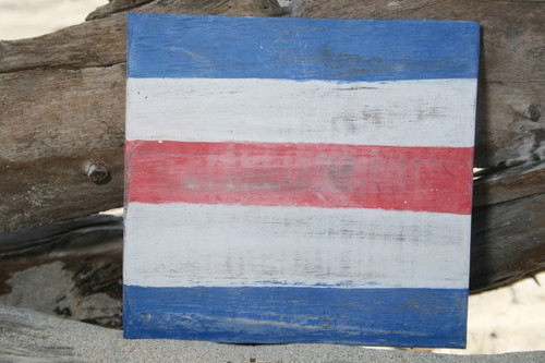 """C"" NAUTICAL RUSTIC FLAG 8' X 8' - WOOD PANEL - NAUTICAL DECOR"