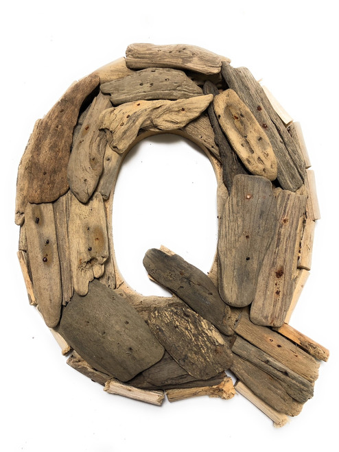 """Q"" Driftwood Letter 10"" Home Decor - Rustic Accents 