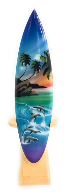"Surfboard w/ Stand Island Lifestyle Design 8"" - Trophy 
