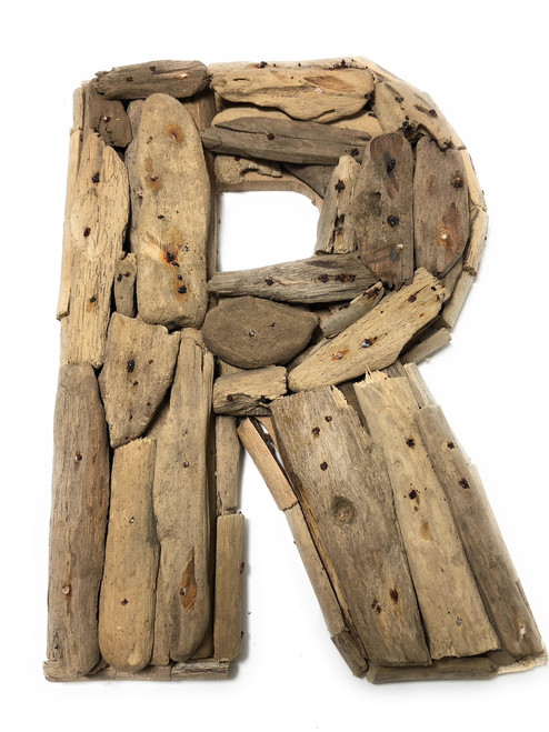 """R"" Driftwood Letter 10"" Home Decor - Rustic Accents 