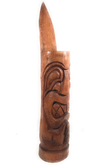 "God Of Surf Totem Tiki 60"" - Natural - Pool Decor 