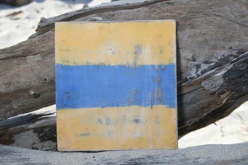 """D"" NAUTICAL RUSTIC FLAG 8' X 8' - WOOD PANEL - NAUTICAL DECOR"