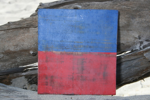 """E"" NAUTICAL RUSTIC FLAG 8' X 8' - WOOD PANEL - NAUTICAL DECOR"