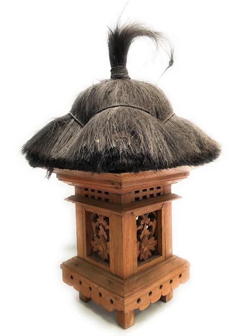 "Balinese Lantern 22"" w/ Coconut Husk & Carvings | #ptb2900212"