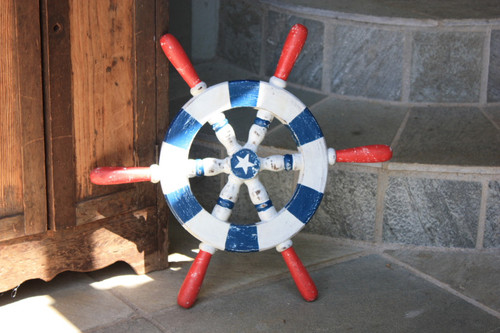 "Ship Wheel Americana Style 16"" - Rustic Finish"