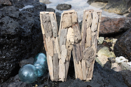 """W"" Driftwood Letter 10"" Home Decor"