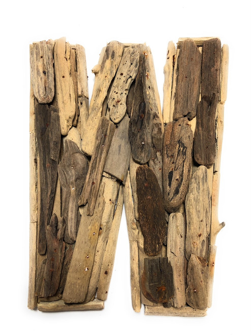 """W"" Driftwood Letter 10"" Home Decor - Rustic Accents 