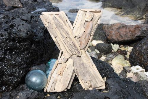 """X"" Driftwood Letter 10"" Home Decor"