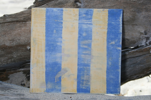 """G"" NAUTICAL RUSTIC FLAG 8' X 8' - WOOD PANEL - NAUTICAL DECOR"