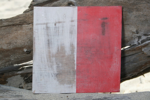 """H"" NAUTICAL RUSTIC FLAG 8' X 8' - WOOD PANEL - NAUTICAL DECOR"