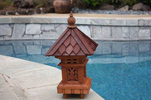 "OUTDOOR LANTERN W/ SHINGLE ROOF TOP - 20"" OUTDOOR LIGHT 2"