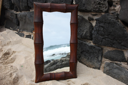 "Bamboo Rectangular Mirror 16""x28"" - Coastal Living"
