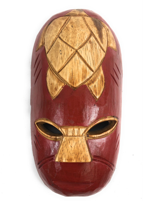 "Fijian Tiki Mask 12"" - Happiness - Oceanic Art 