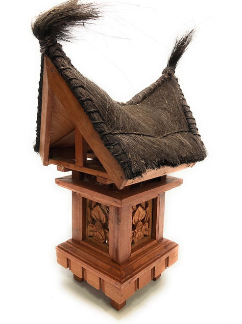 "Traditional Balinese Lantern w/ Coconut Husk Roof 24""   #ptb2900615"