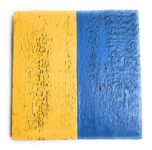 "K Nautical Alphabet Wooden Plaque 7"" X 7"" - Coastal Decor | #skn16017k"