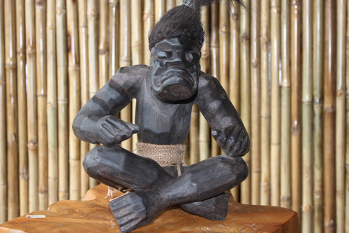 "PRIMITIVE SUMO TIKI 12"" - TRIBAL TIKI DECOR"