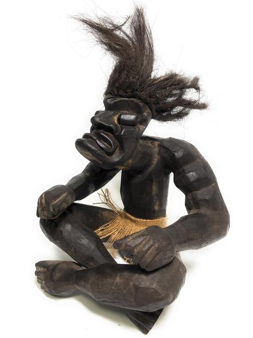 "Warrior Chief Primitive Tiki 12"" - Tribal Art | #lge2400430"
