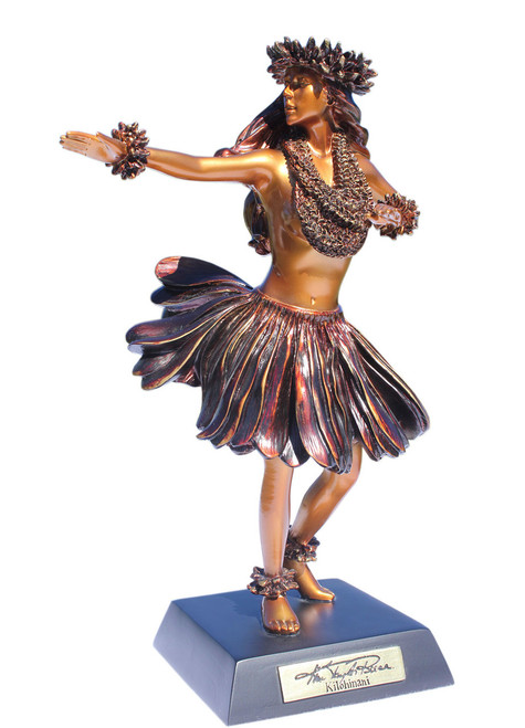 """Kilohinani"" Hula Dancer Hawaiian Tradition - Kim Taylor Reece Statue 