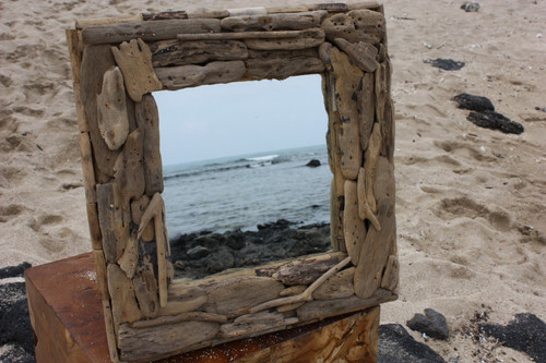 "Driftwood Square Mirror 16""x16"" - Coastal Living | #lis3100240a"