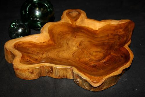 """Rustic Platter/Tray 14""""X13""""X1.5"""" - Wooden Teak Root   #lpu202"""