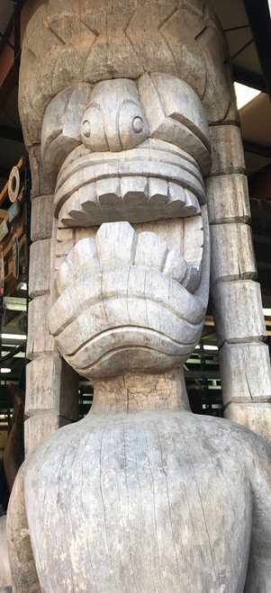 Vintage Giant Hawaiian Tiki Kuka Ilimoku 9 Feet - Architectural | #tiki2
