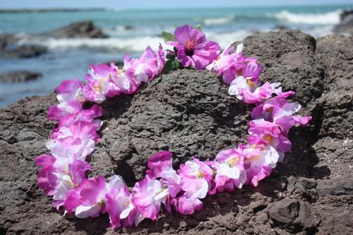"Joaquim Vanda Lavender 18"" - Hawaii Silk Leis"