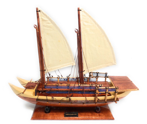 "Hokulea Sailing Canoe Reproduction - Scaled 18""X15"" 