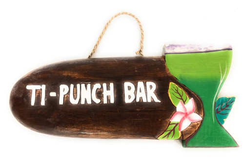 """Ti-Punch Bar"" Margarita Sign - Tiki Bar Decor | #snd2503130"