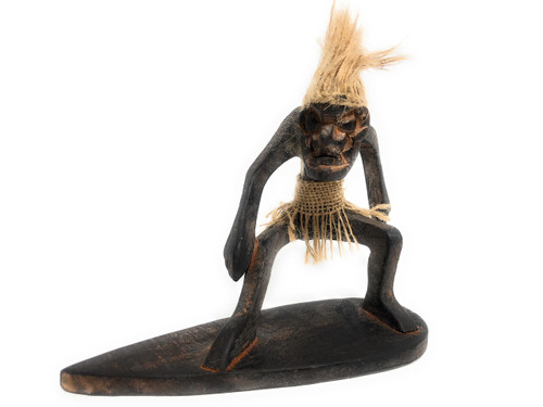 "Big Wave Surfer Crazy Primitive Tiki Dude 8"" - Tribal Art 