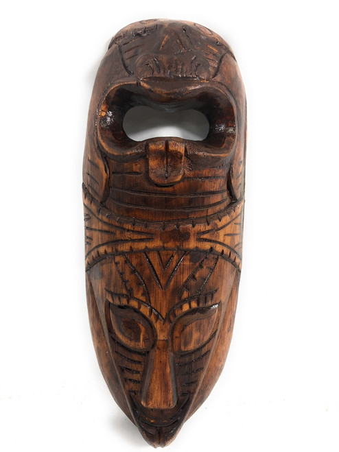"Fijian Tiki Mask 12"" - 2 Deities Love & Strength 