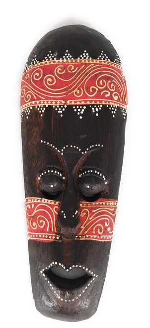 "Tribal Tiki Mask 12"" Red - Tattoo Primitive Art 