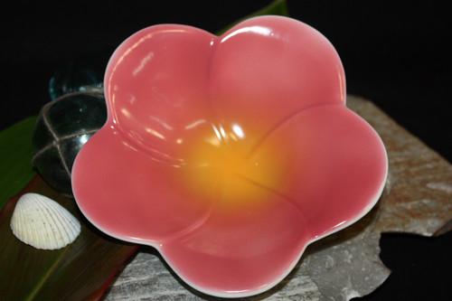 "Plumeria Pink Ceramic Bowl 8"" - Hawaii | #TCPBMPK"