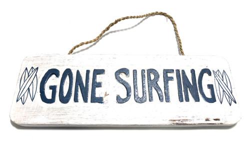 "Gone Surfing Sign 14"" - Beach Decor | #ort1705635"