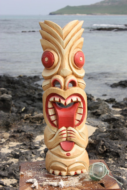 "Big Kahuna Tiki Mask 20"" - Hawaiian Tiki Bar Decor"