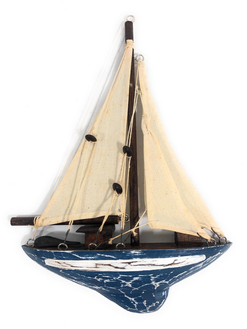 "Decorative Sailboat 12"" Wall Hanging - Yellow Nautical Decor | #ort1700738b"