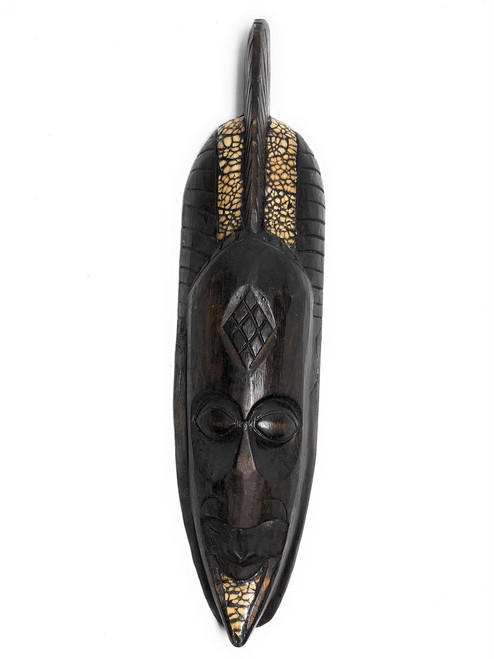 "Warrior Chief Tribal Mask 20"" - Primitive Wall Decor   #nmk2201050"