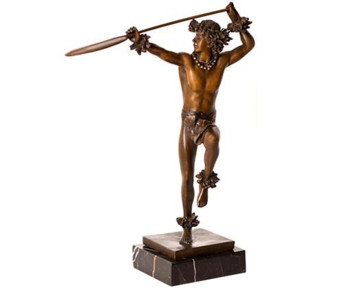 """Hoewaa """"Canoe paddler"""" Bronze Statue 13"""" By Kim Taylor Reece   #Ktr696933142223"""