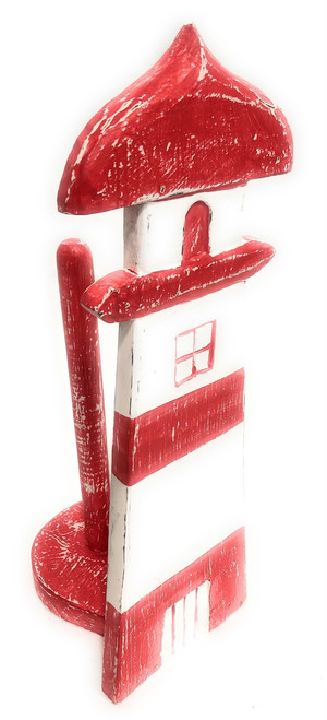 """Lighthouse Paper Towel 16"""" - Red  Rustic Nautical Decor 