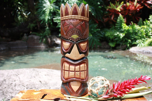 "Money Tiki Mask 20"" - Hawaiian Decor"