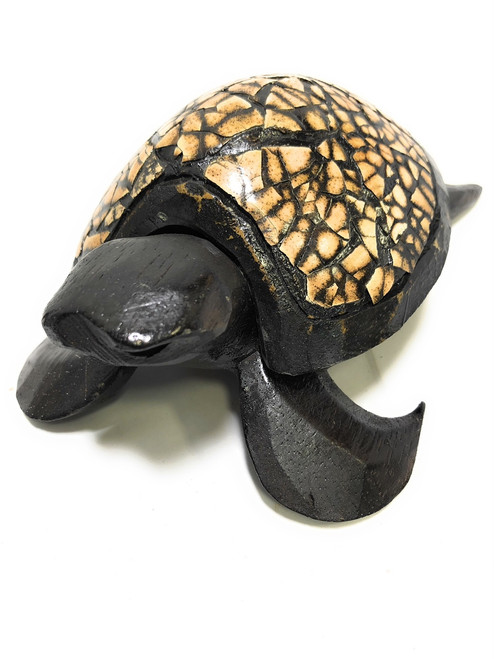 "Turtle Ashtray 6"" X 4"" - Wooden Keepsake Box 