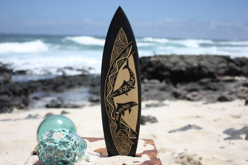 "Surfboard w/ Dancing Dolphins 16"" - Trophy 