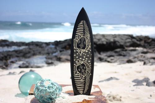 """Surfboard w/ Swimming Turtles 16"""" - Trophy"""