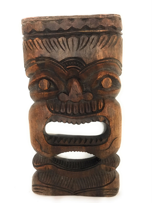 "Money Tiki Mask 18"" - Monkeypod - Wall Hanging 