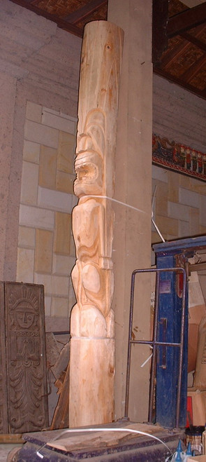 Tiki Totem 8' - 360 Degree Carvings - Outdoor Structural Totem | #totem2