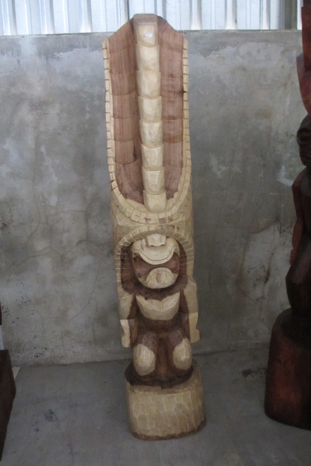 Tiki Kona Style Lono 6 Feet - Natural Hawaii Museum Replica
