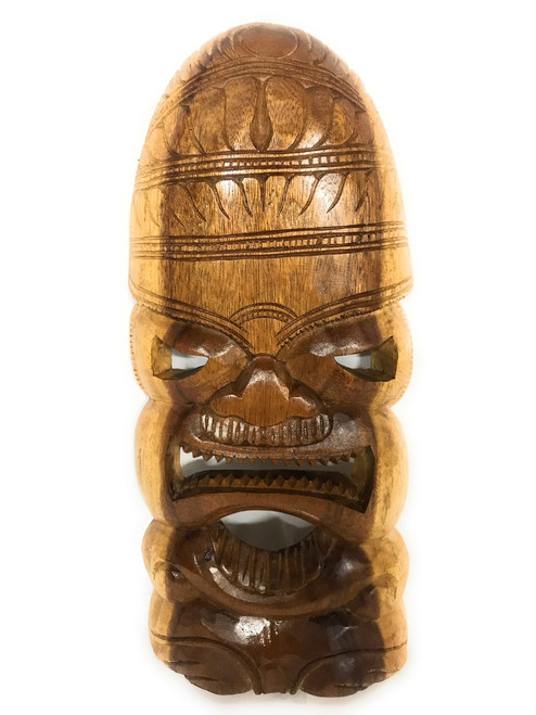 "Love Tiki Mask 18"" - Hand Carved 