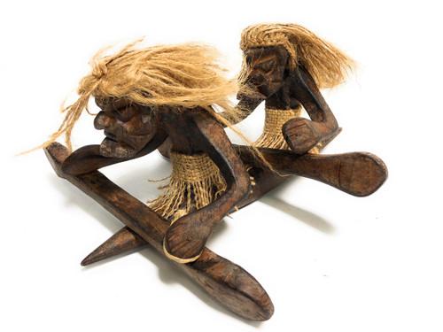 "Tandem Kayakers Crazy Primitive Tiki Dude 10"" X 8"" - Tribal Art | #t6163"