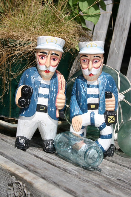 "SET OF 2 CAPTAINS ""ALL OUT"" - RUSTIC NAUTICAL 12"" - NAUTICAL DECOR"