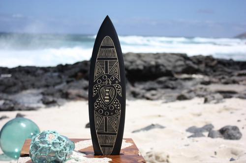 """Surfboard w/ Tribal Turtle 16"""" - Trophy"""