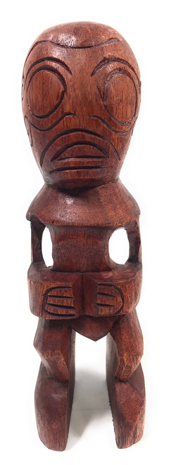 "Fisherman's Good Luck Tiki Totem 8"" Stained 